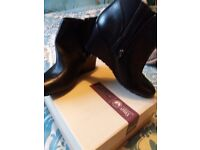 Brand new boxed Clarks Wedged black boots