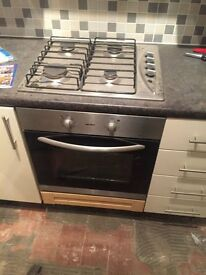 BUSH Gas Cooker and Electric oven and grill