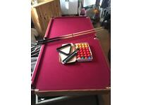 Snooker pool table hardly used