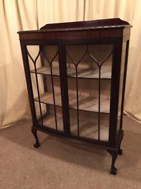 1930's / 1940's China Cabinet - Ball & Claw Feet - Vintage / Retro