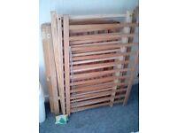cot,swinging crib,nappy bin etc