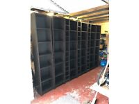 Ikea Billy bookcases and Cd Shelves