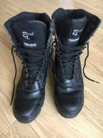 Black army cadet boots size 11