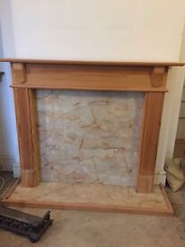 Pine wood fire surround traditional style excellent condition