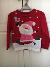 Girls Christmas jumper