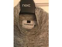 mens topman roll neck top size xl excellent condition