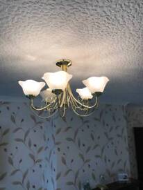 5 and 3 ceiling lights
