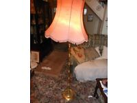 LOVELY SOLID BRASS STANDARD LAMP WITH SHADE