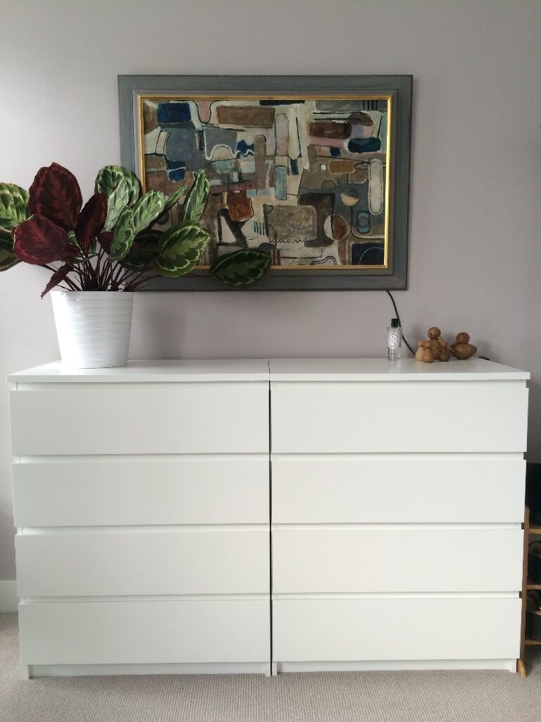 2 x ikea malm chest of 4 drawers white in fulham london gumtree. Black Bedroom Furniture Sets. Home Design Ideas