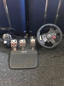 Logitech g29 driving force wheel and gear stick bundle for sale