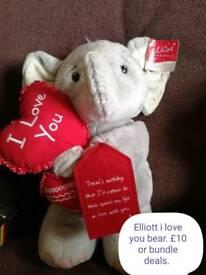 Me2you and elliott teddy £10 each