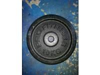 Cast iron weights (10kg)