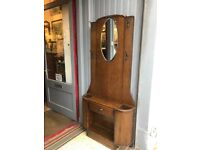 Art Deco Hall/Coat Stand , original handles , drawer and mirror. Free local delivery