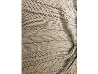 Laura Ashley Heavy Cable Knit Throw