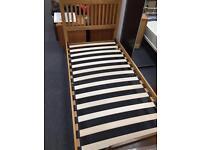 Natural Oak Single Bed Frame.