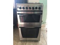 Indesit KD3G11(X)/G stainless steel gas cooker 50cm wide, 90cm high