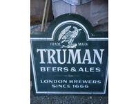 Truman hand painted metal pub sign