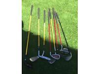 8 child's golf clubs