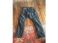 "Motorcycle jeans Size 38"" waist. 31"" leg."