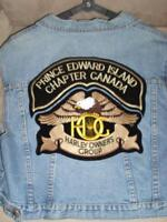 Harley Owners Group patch & PEI Chapter rocker