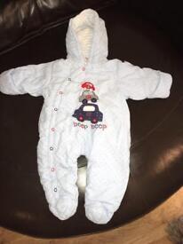 Baby Boys Snowsuit 3-6 months