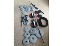 York Barbell Weight Set & Accessories