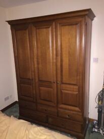 3 door wardrobe with drawers and 2 bedside cabinets very good condition collect only