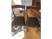 5 mid century wood dining chairs