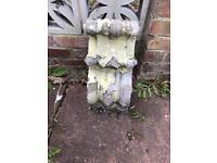 Corbel stone decorative scroll