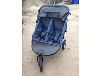 Twin twister double pram