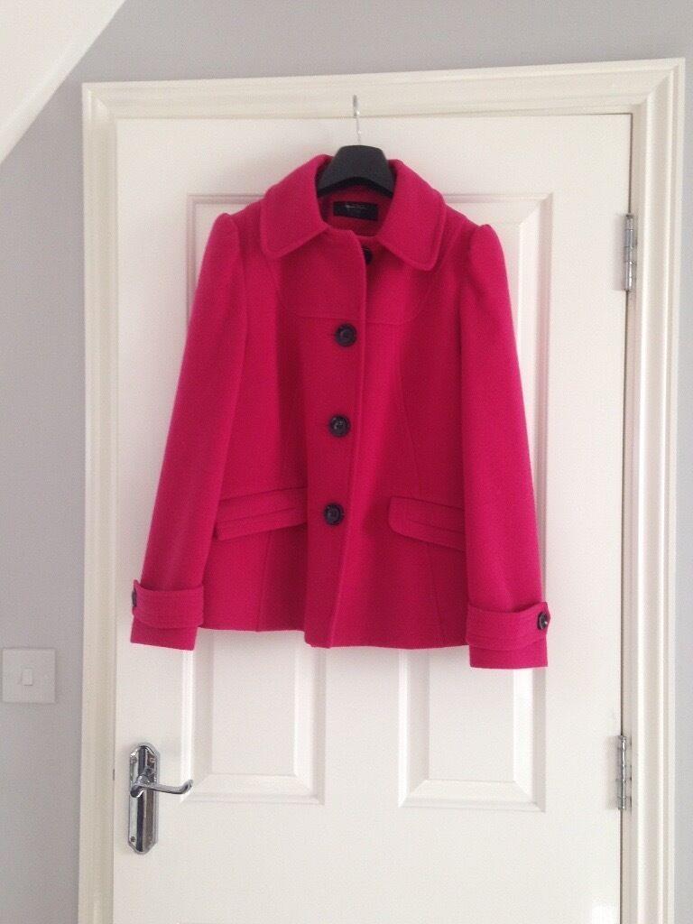 Bhs pink felt coat