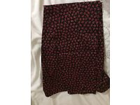 F&F new poppy print trouser in cotton satin size 12