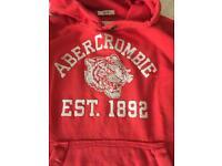 Boys Abercrombie Red Hoodie