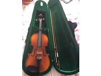 1/2 sized Violins (x2), excellent condition, with carry cases