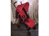 Fisher Price Red&Black Pushchair with footmuff