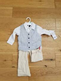 BNWT Boys 3 piece occasion outfit 18 months