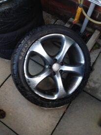 "VW golf MK4 alloy wheels 17"""