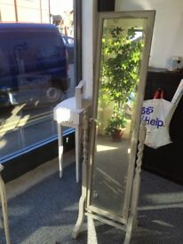 Tall free standing dressing room mirror