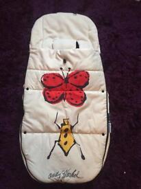 Bugaboo limited edition Andy Warhol Happy Bugs footmuff