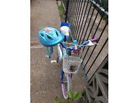 16in Frozen Bike with matching helmet