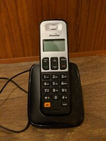 Portable telephone with no answerphone built in.