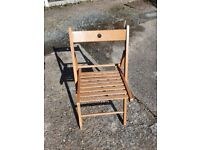 Wooden folding chair in good condition