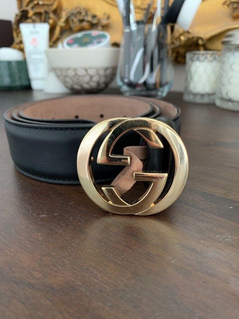 057696cf Ladies Gucci Black & Gold Belt | in Thornliebank, Glasgow | Gumtree