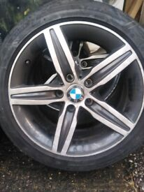 17'' BMW ALLOYS WITH TYRES