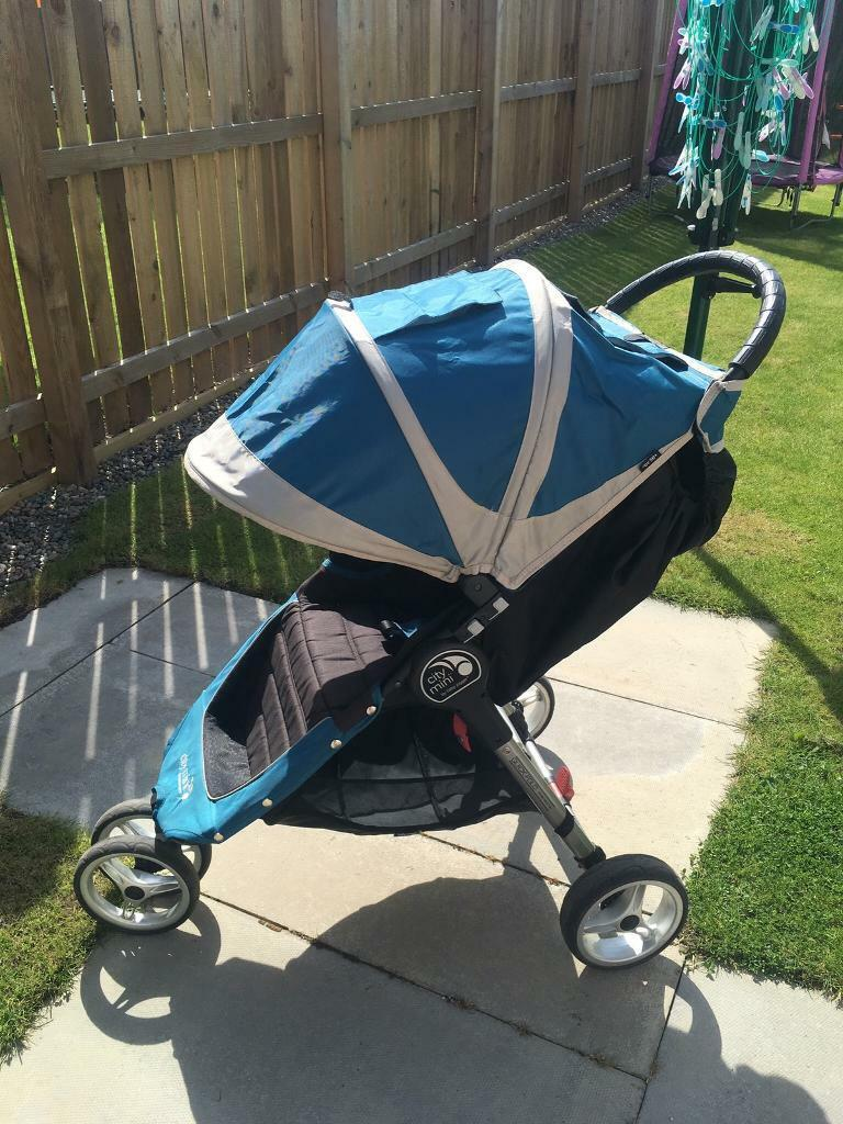 Baby Jogger City Mini 3 Wheel Single Stroller Pushchair Pram Buggy Teal Grey Black Easy Fold In Dundee Gumtree