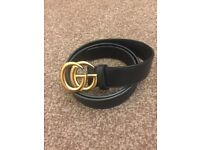 Gucci Double GG Ladies Belt BLACK