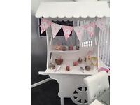 Candy cart hire £50 without sweets £75 with sweets personalised banner scoops sweet bags stunning