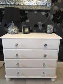 Set of 4 pine drawers painted in chalk paint