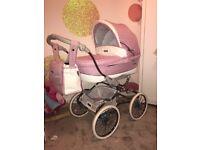 Baby pram pink bebecar