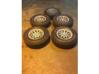 "Jeep Cherokee 15"" Alloy wheels 4x General Grabber AT2 225/75/r15 1x Federal Couragia S/U 225/70 R15"